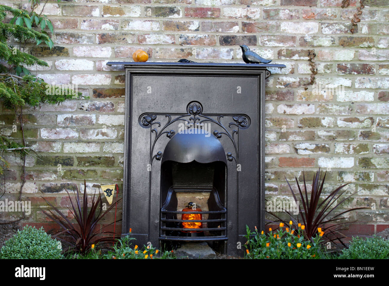 Garden Fireplace   Stock Image