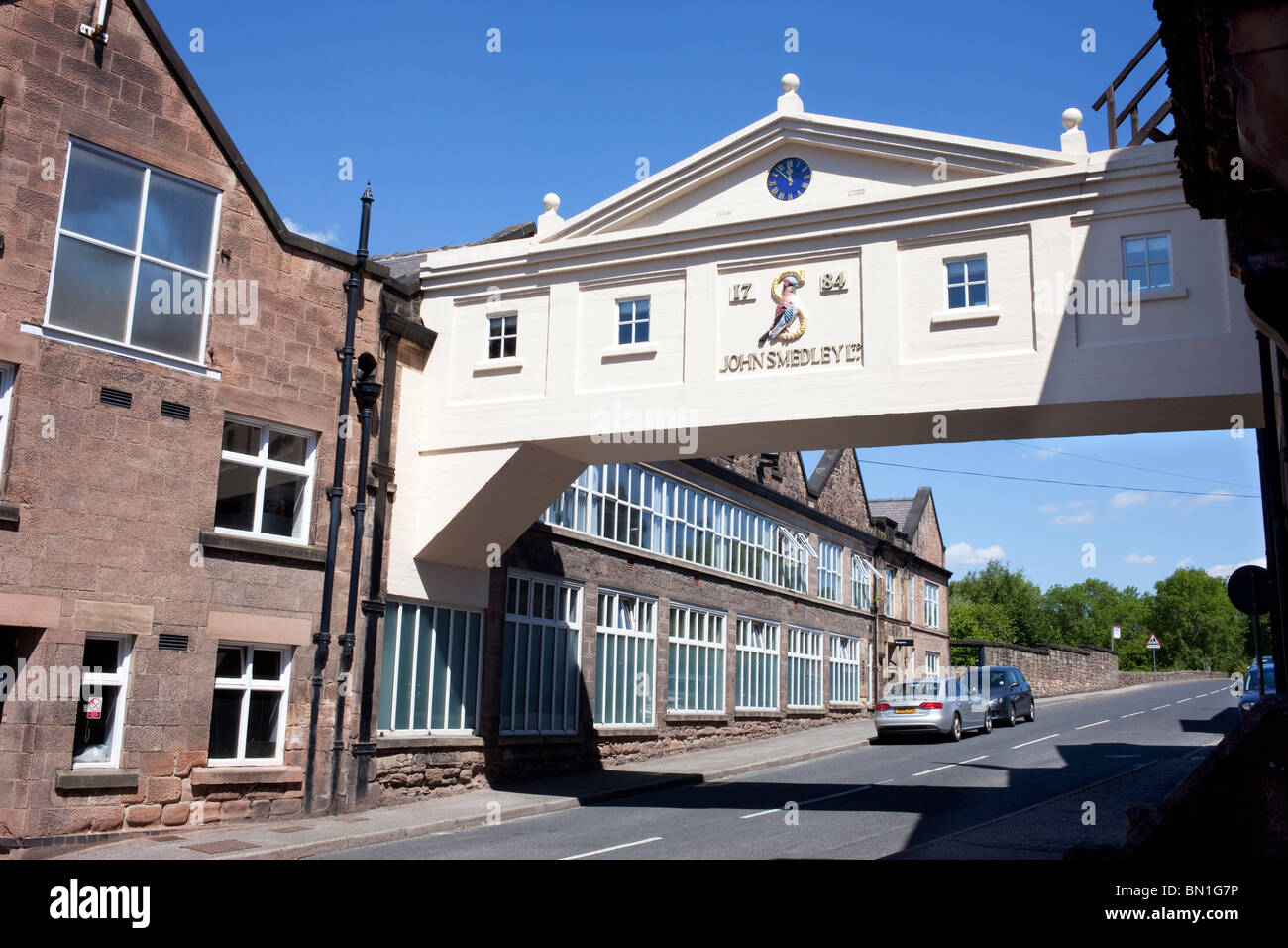 John Smedley established in 1784 producers of designer knitwear from their Lea Mills factory near Matlock in Derbyshire Stock Photo