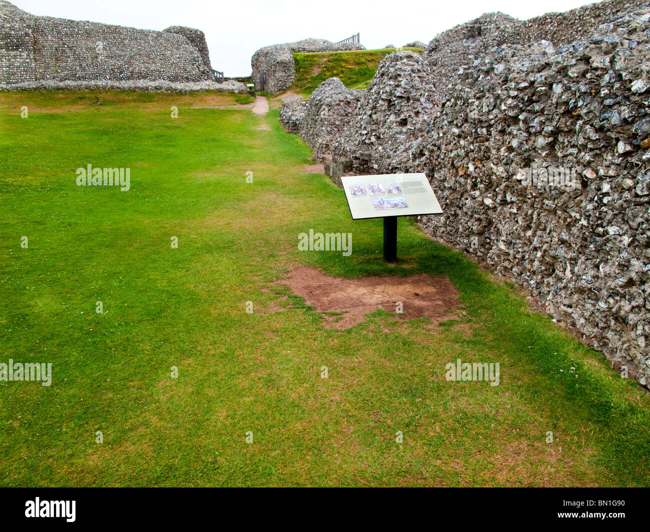 The iron age hill fort ancient city of Salisbury, Old Sarum Stock ...