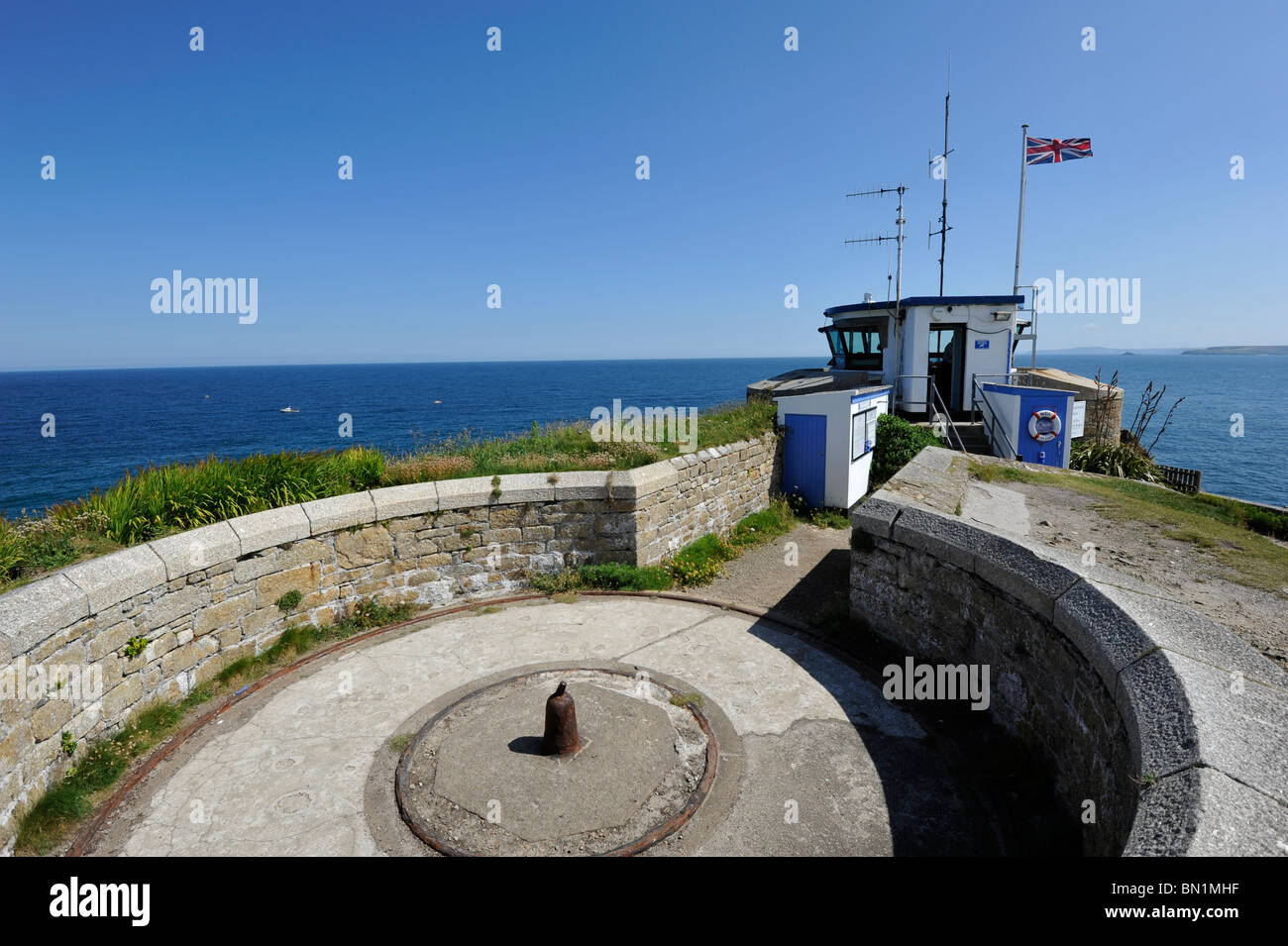 Look Out Point St Ives - Stock Image