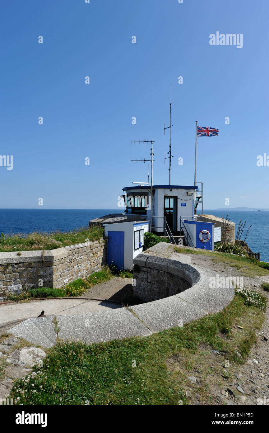 Coastal look-out point St Ives - Stock Image