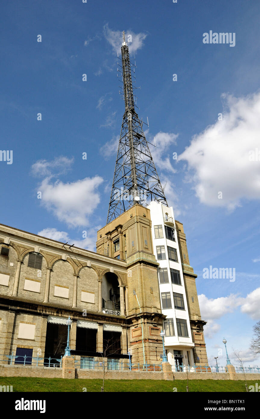 Television Transmitter Tower Alexandra Palace London England UK - Stock Image
