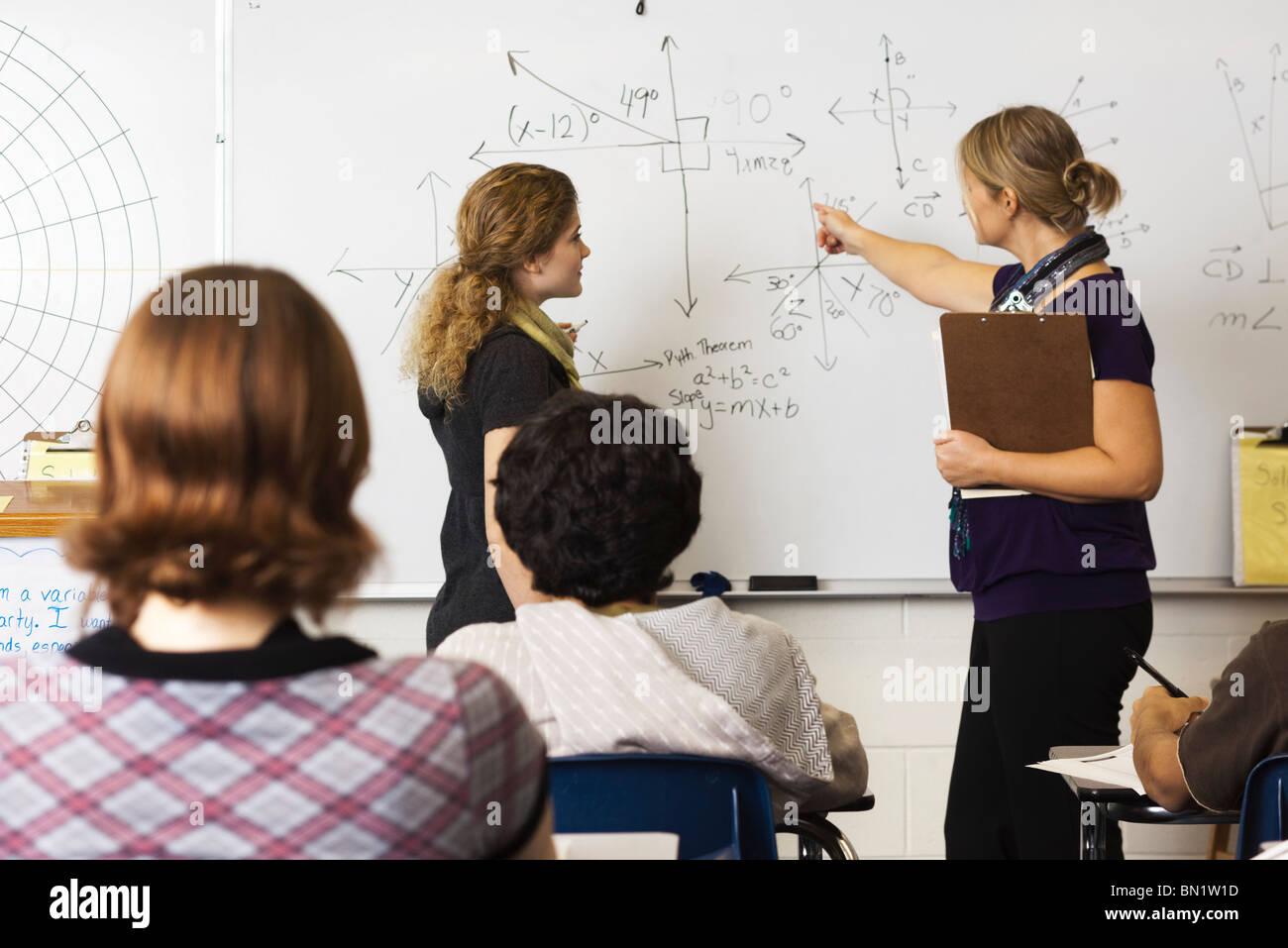 High school math class - Stock Image