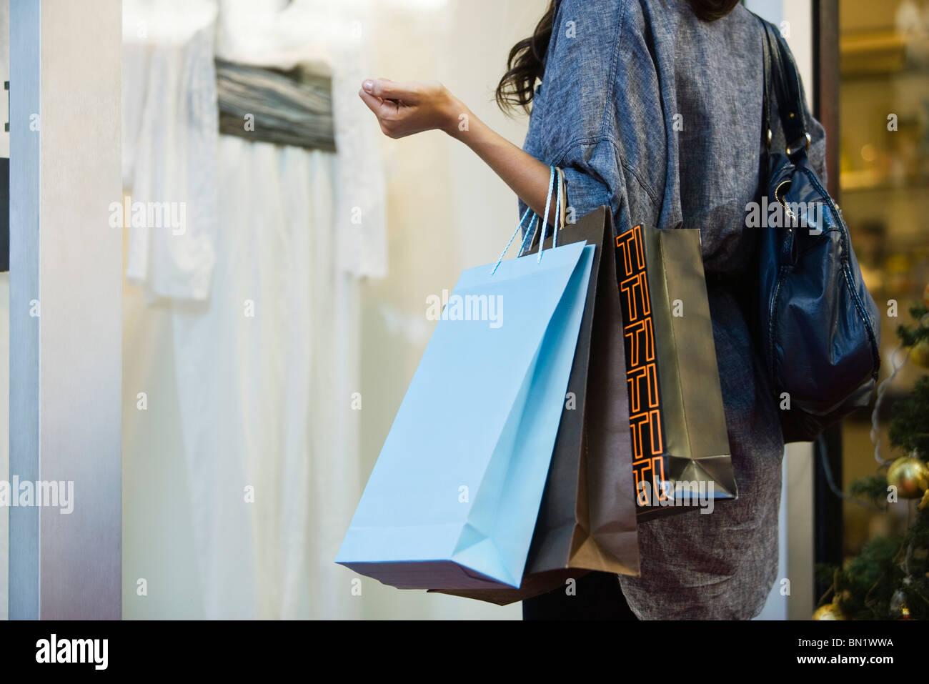 Window shopping - Stock Image