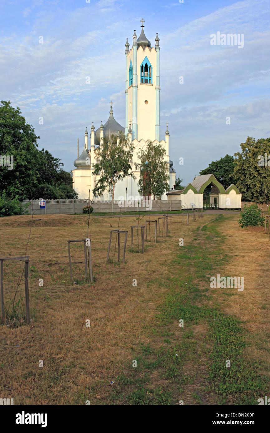 Transfiguration church, 1830s, Moshny, Cherkasy Oblast, Ukraine - Stock Image