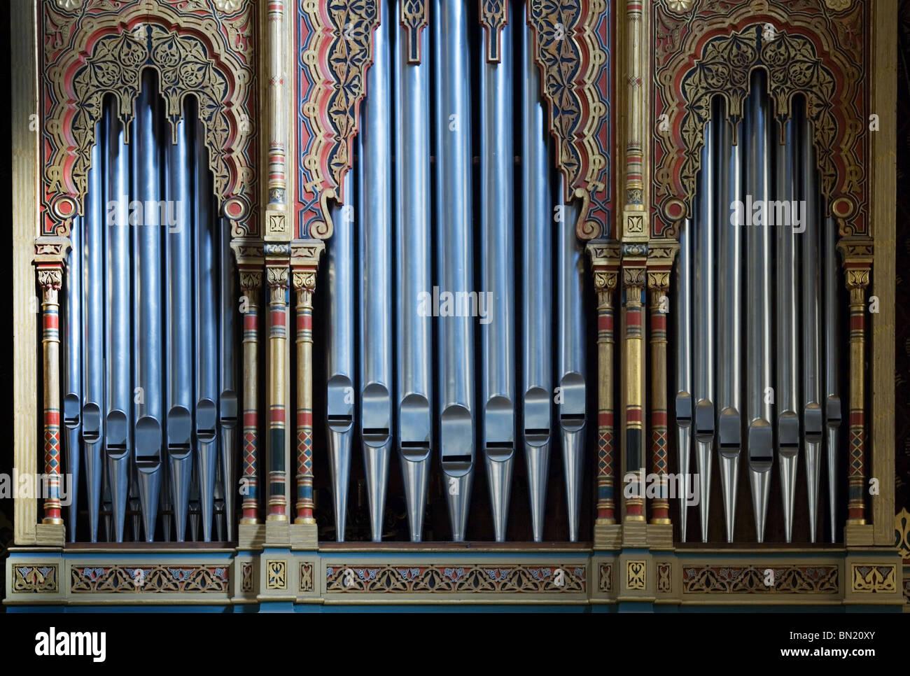 Spanish Pipe Organ, Prague - Stock Image