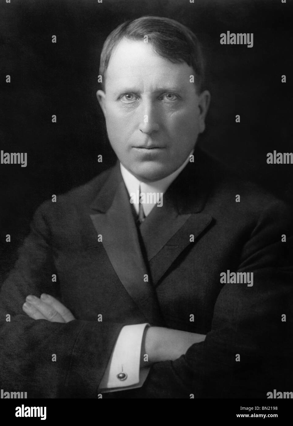 Portrait photo circa 1910 of American newspaper magnate and leading publisher William Randolph Hearst (1863 - 1951). - Stock Image