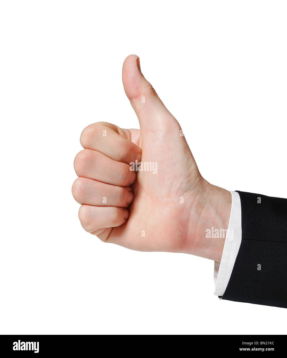 Thumbs Up from a Businessman - Stock Image