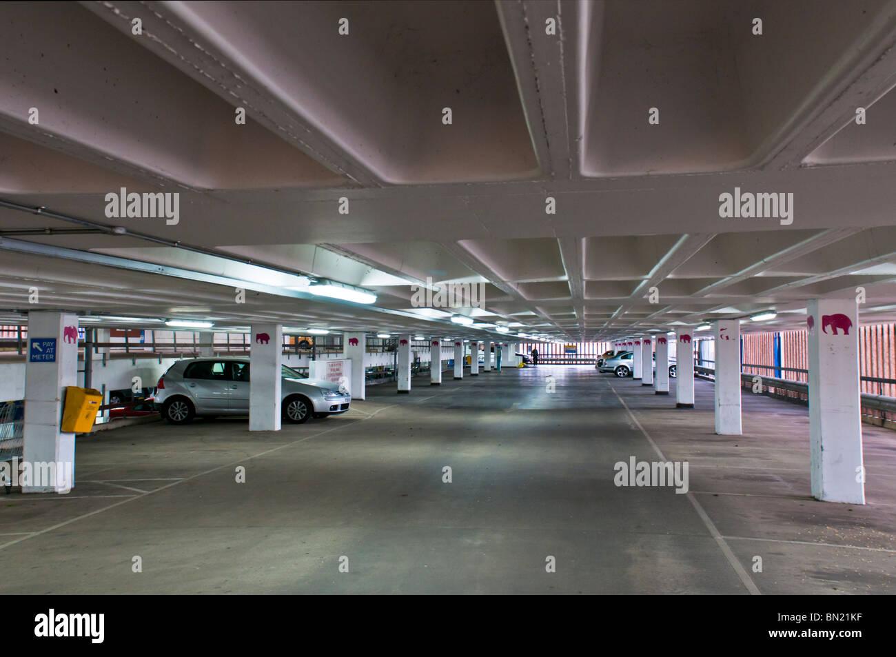 Empty multistory parking - Stock Image