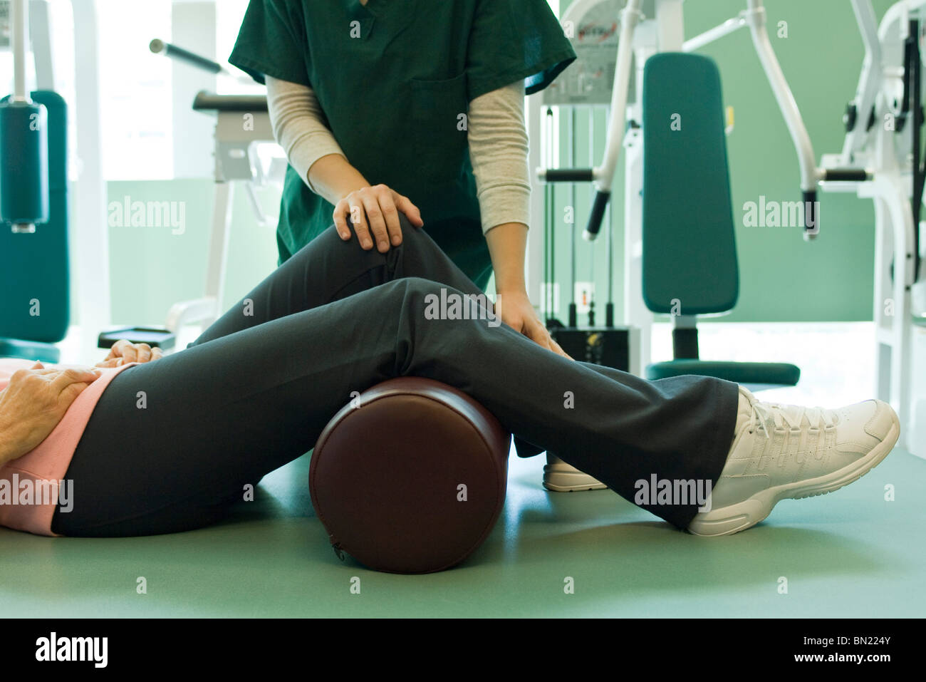 Patient receiving physical therapy treatment - Stock Image