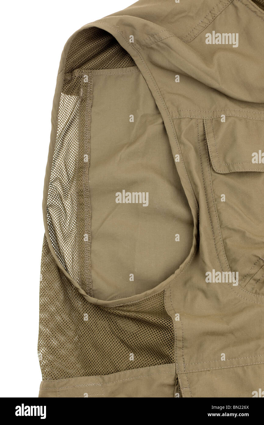 Sleeveless jacket with ventilation - Stock Image