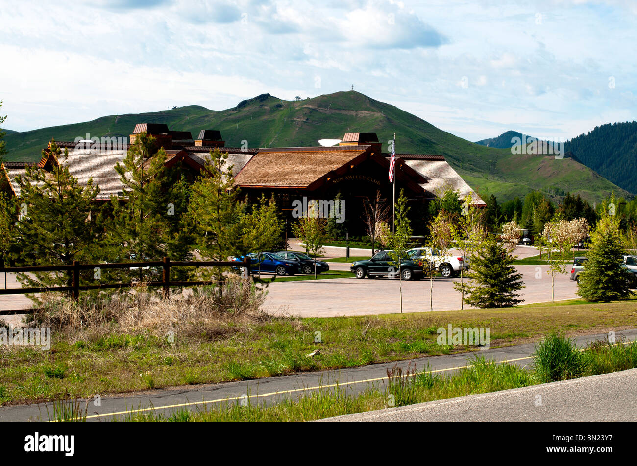 The new clubhouse at the Sun Valley Club - Stock Image