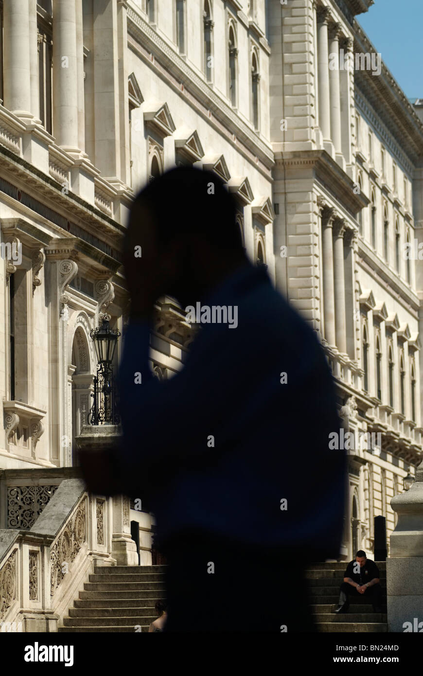 Civil Servants, outside The Foreign Office, 'Clive Steps' 'King Charles Street' Whitehall London - Stock Image