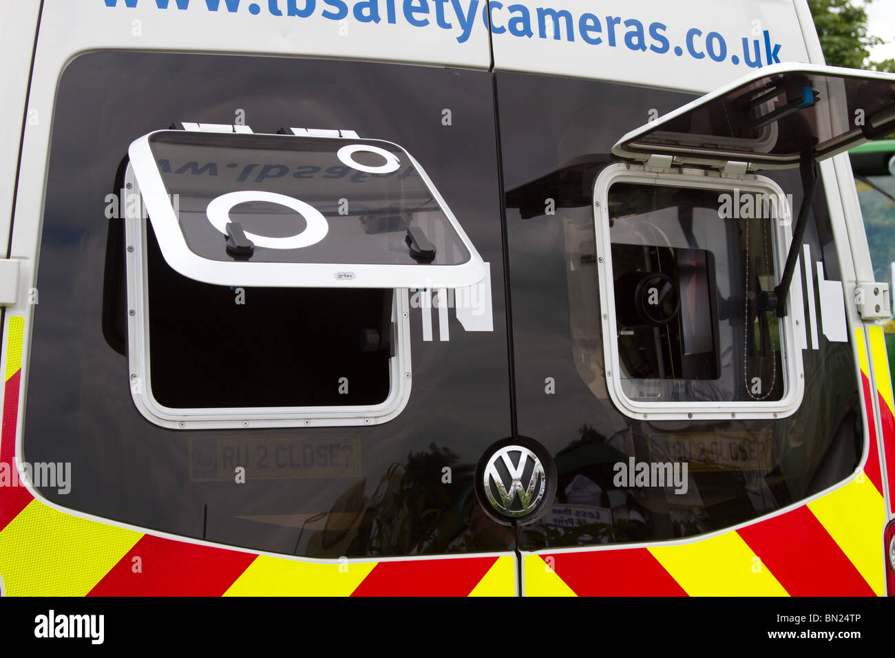 VW Police Camera's speed detection van; UK Surveillance vehicles at the great Royal Highland Show 2010  Scottish Stock Photo