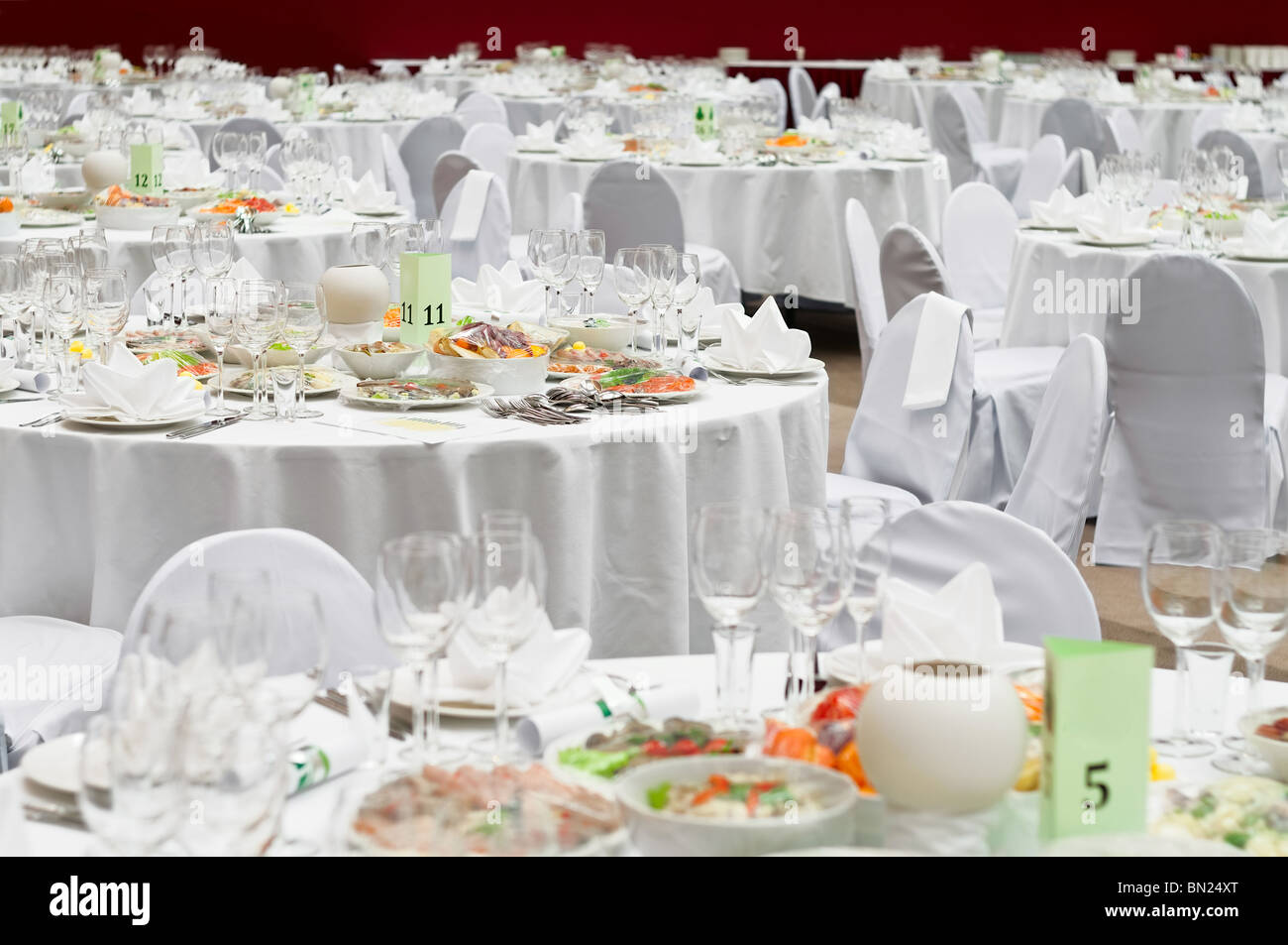 Formal dinner service as at a wedding, banquet Stock Photo: 30165936 ...