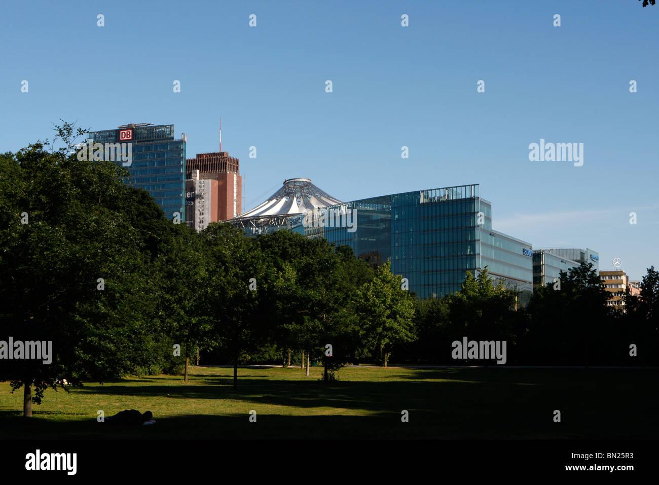 Berlin's central park at Tiergarten Stock Photo