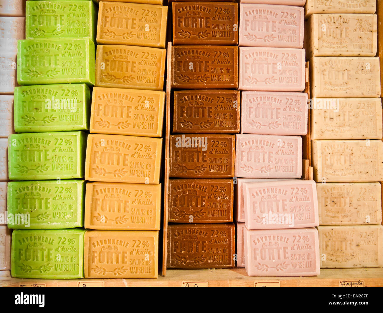 Bars of handmade soap,Nice,Cote d,Azur,France - Stock Image