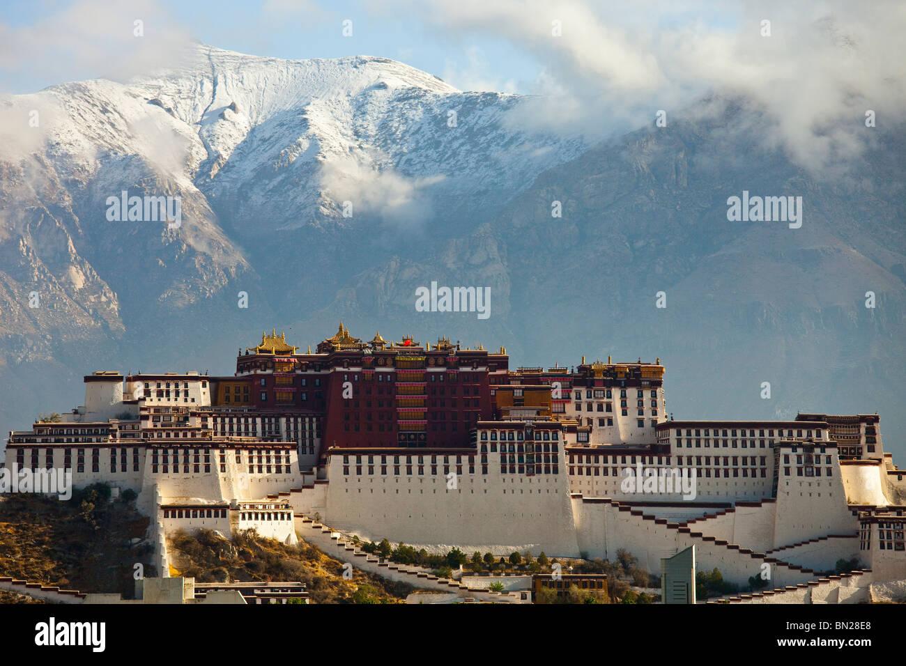 Potala Palace in Lhasa, Tibet - Stock Image