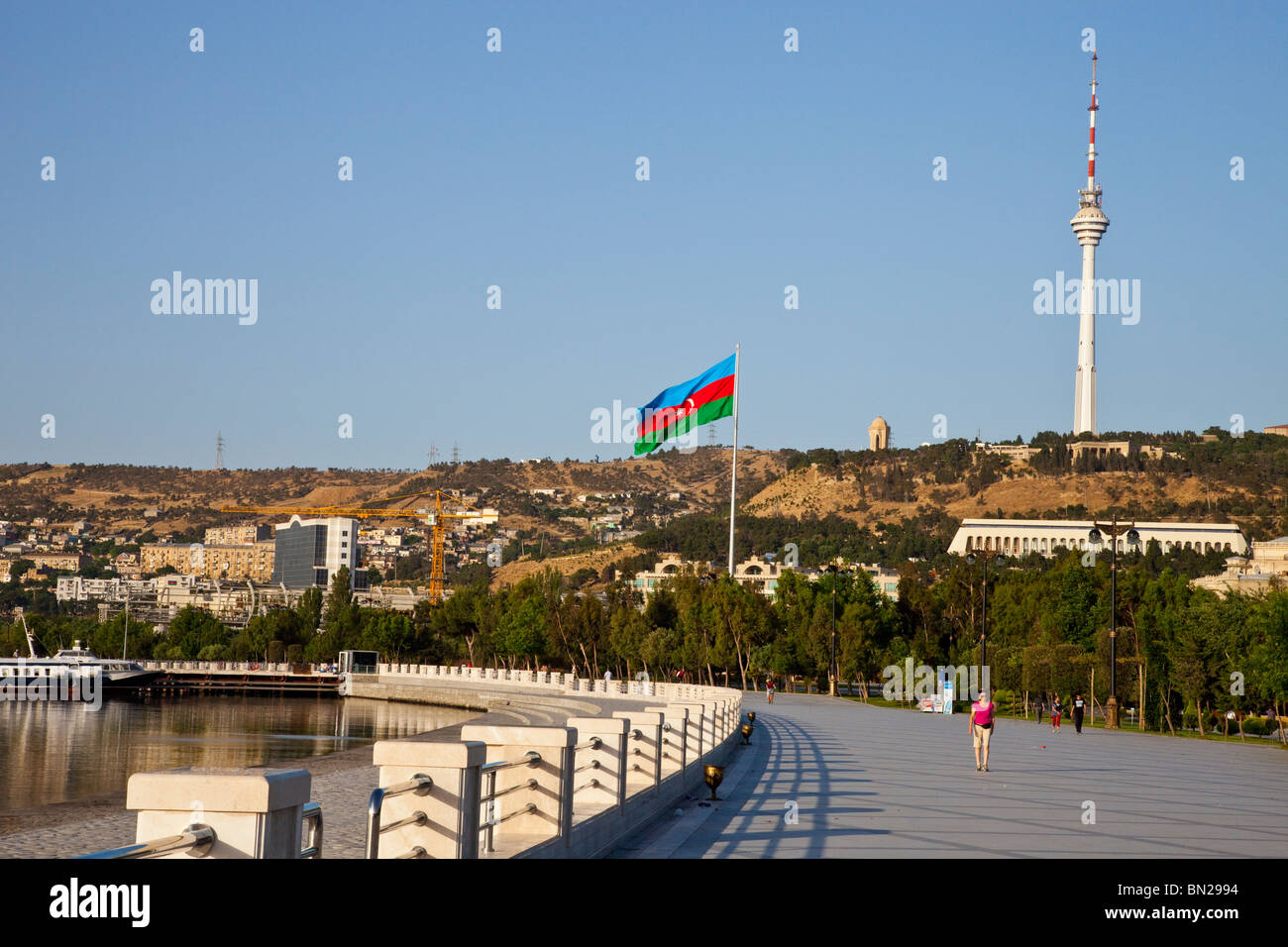 Baku Boulevard, Baku, Azerbaijan - Stock Image