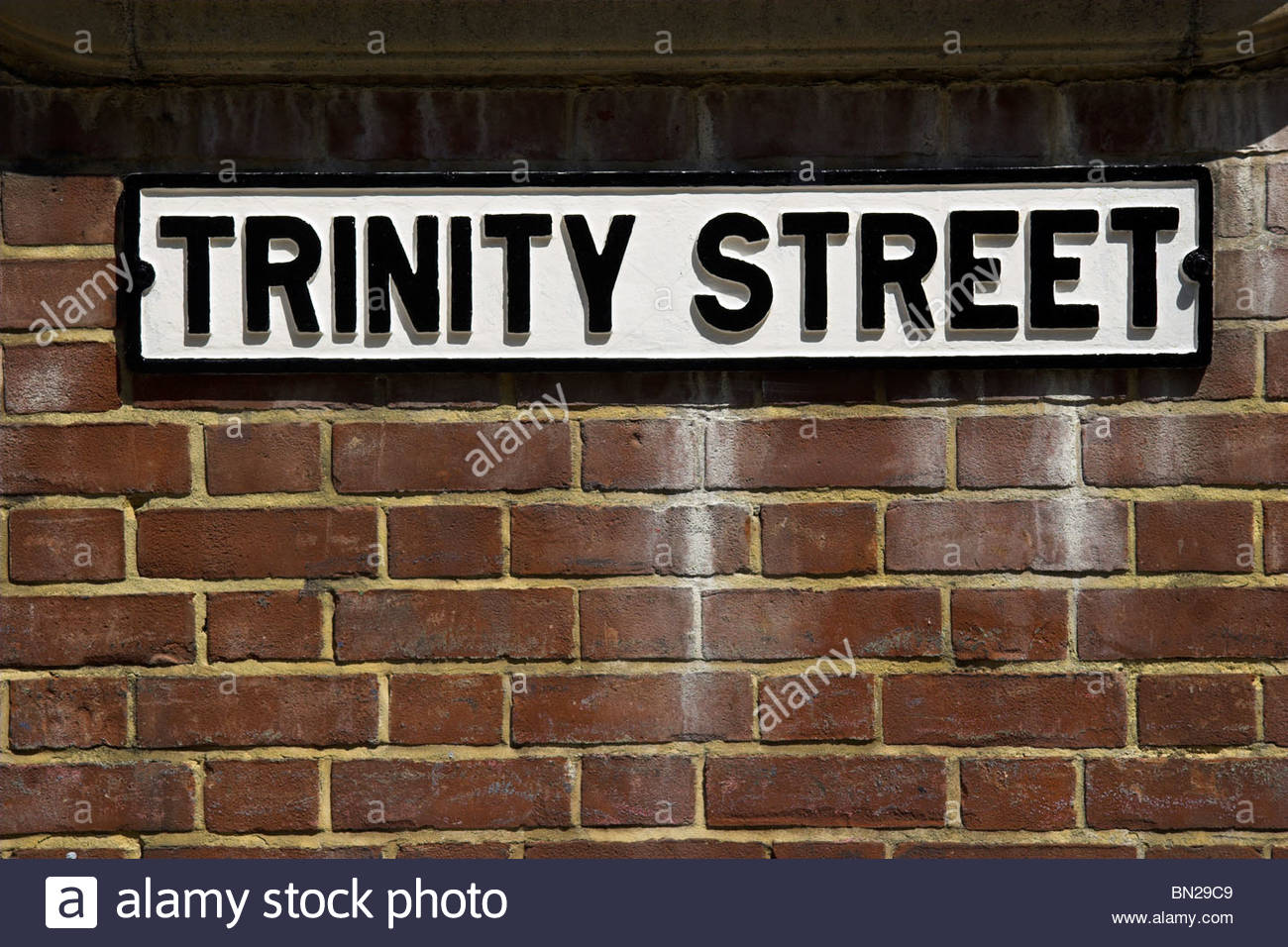 'Trinity Street' street sign, Bristol, England, UK. - Stock Image