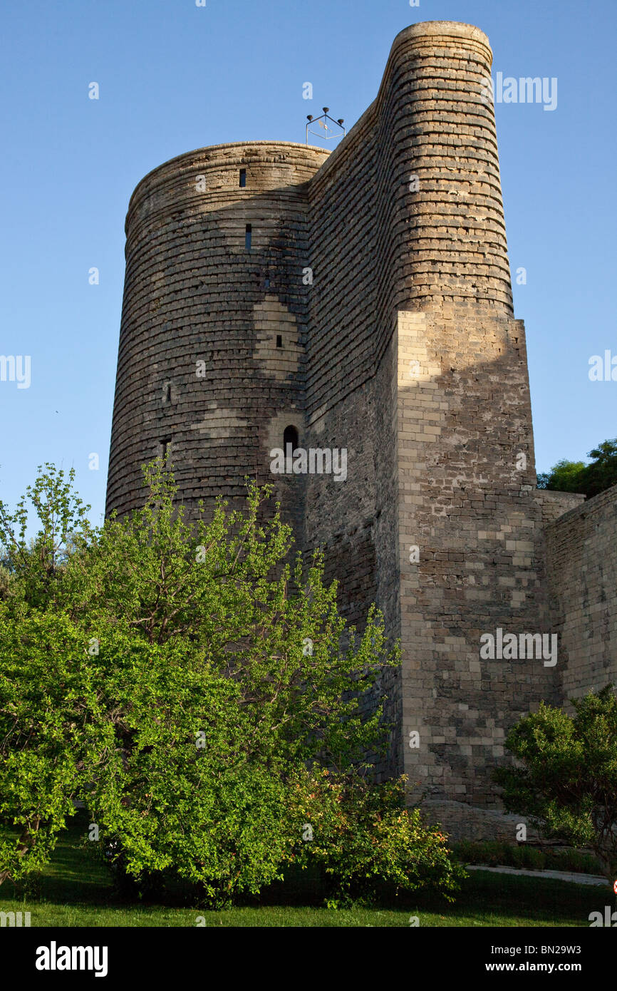 Maiden Tower in Baku, Azerbaijan - Stock Image