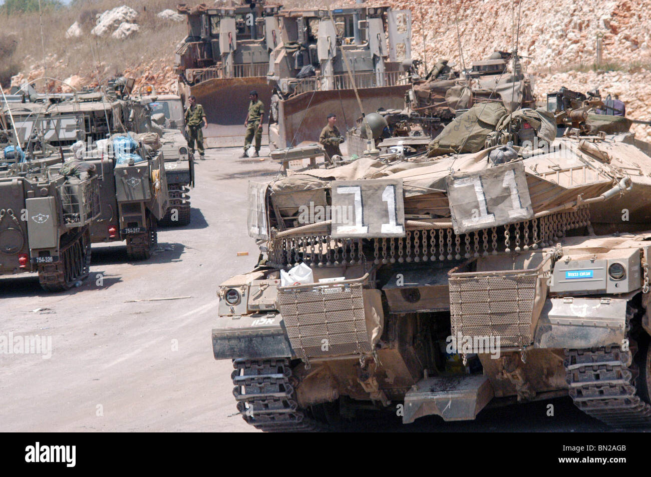 Israel mark four years to  the Second Lebanon War - Stock Image