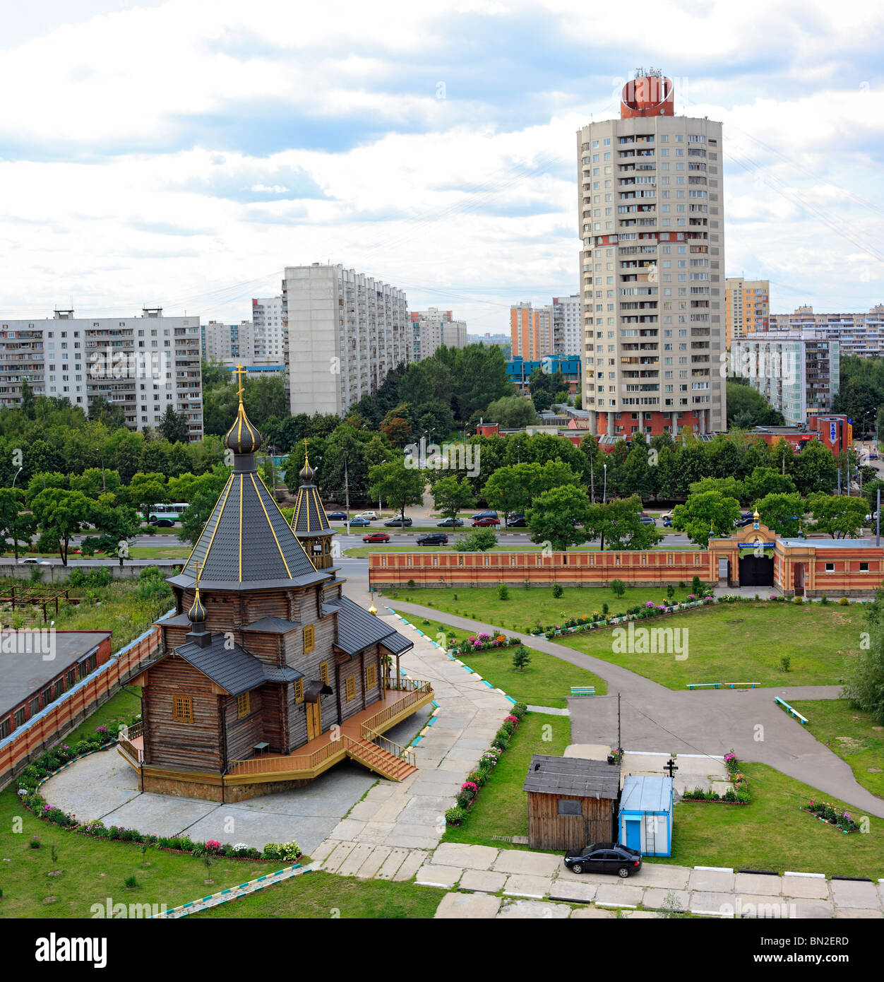 Church, Orekhovo-Borisovo Yuzhnoye district, Moscow, Russia - Stock Image