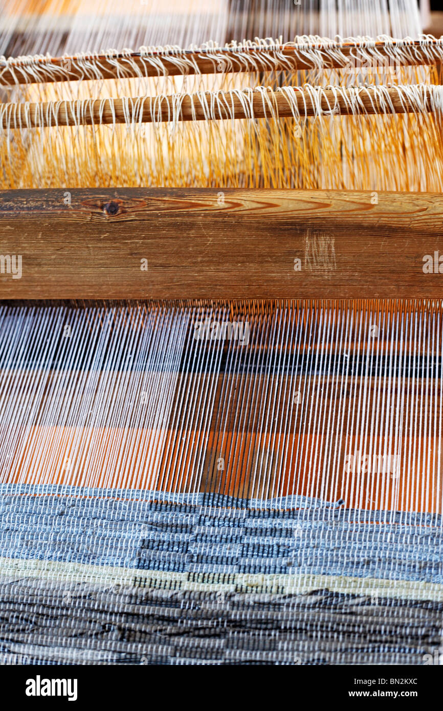 Traditional textile production, Belozersk, Vologda region, Russia - Stock Image