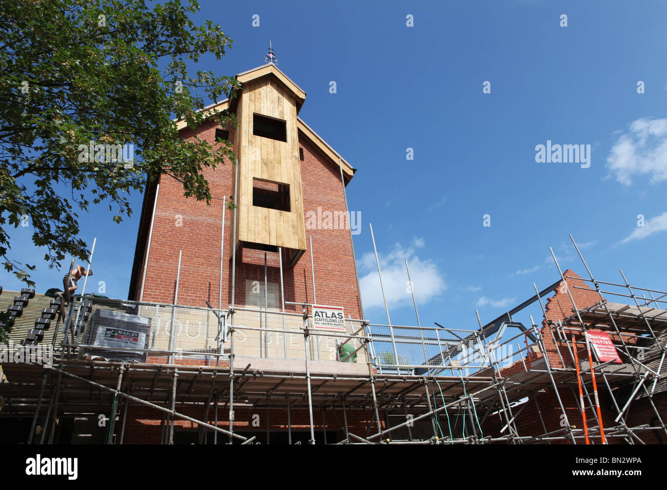 The new Joules brewery being built in Market Drayton, Shropshire - Stock Image