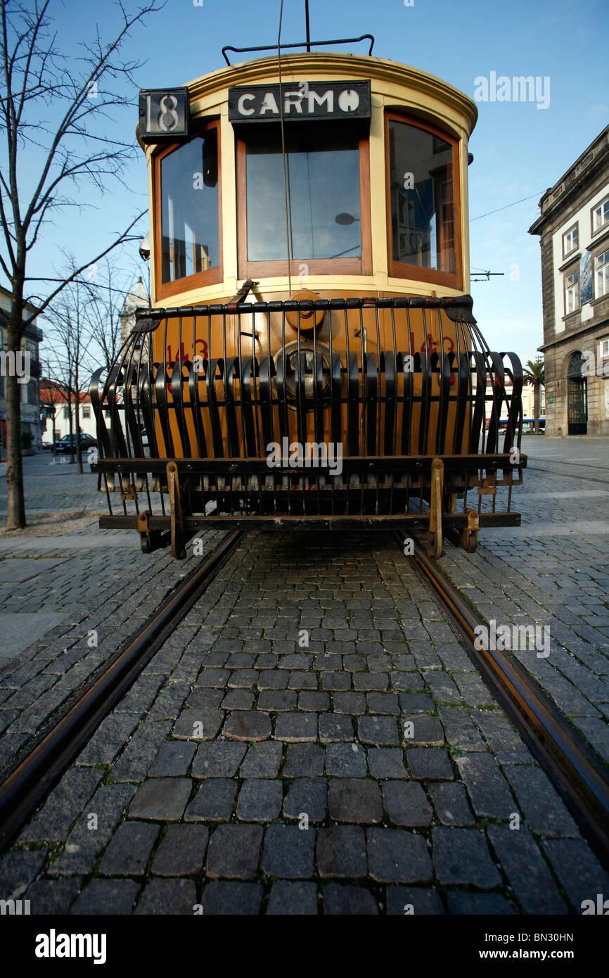 Oporto tram Stock Photo