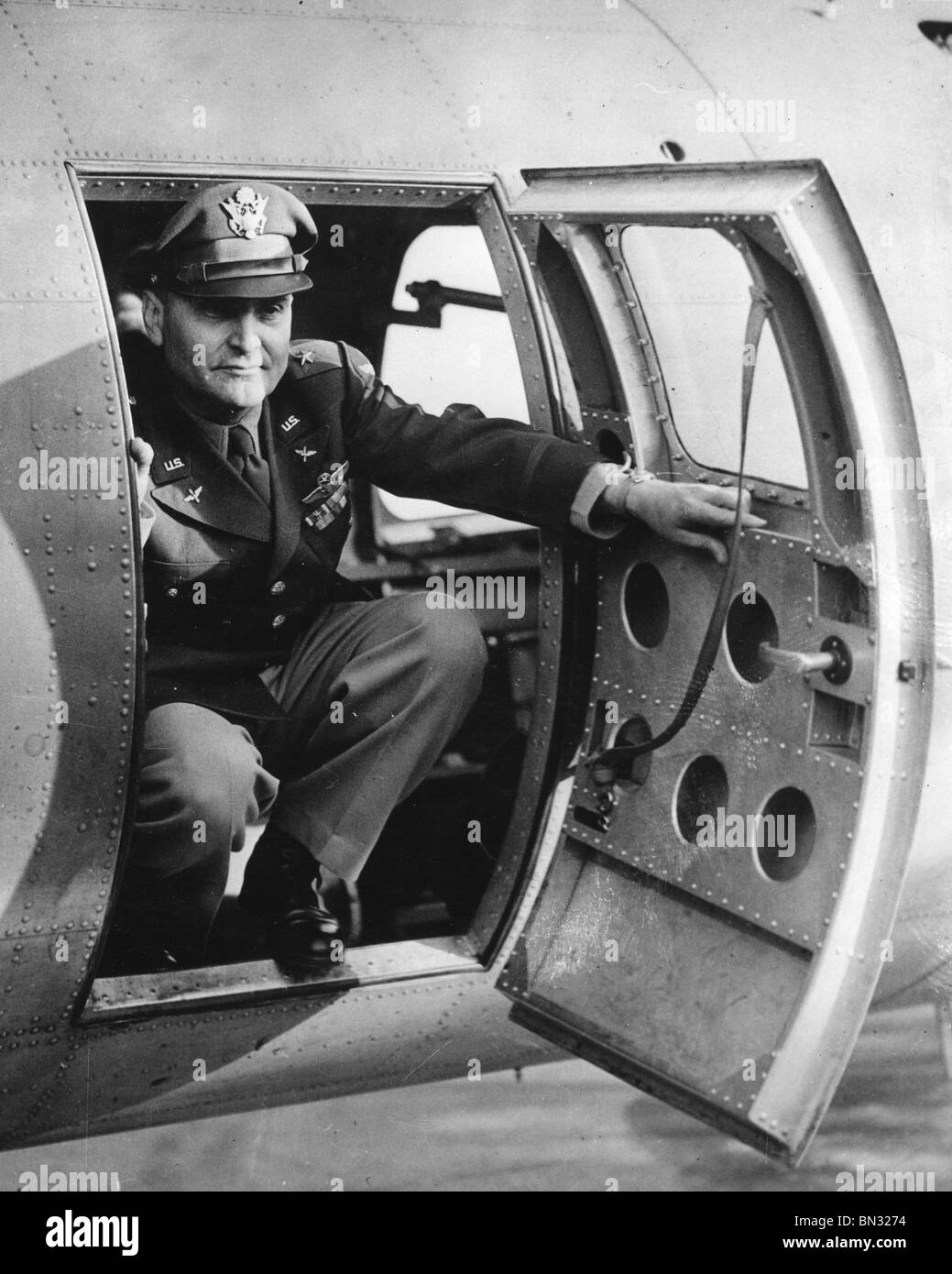 IRA C EAKER (1896-1987) US Army Airforce General about in 1943 - Stock Image