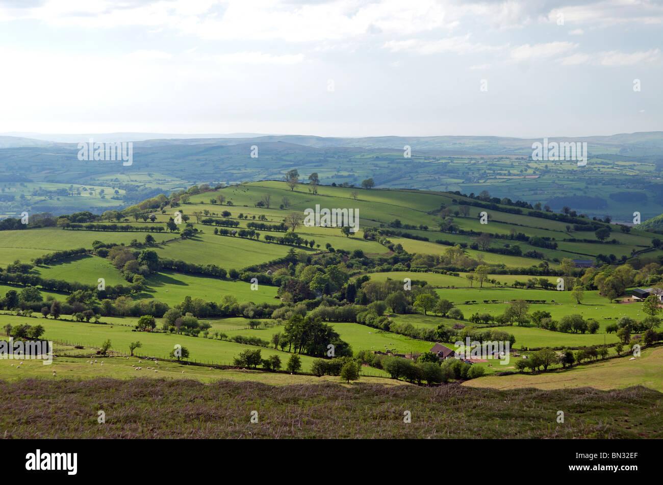 Black Mountains, near Hay on Wye, Powys, Wales, UK - Stock Image