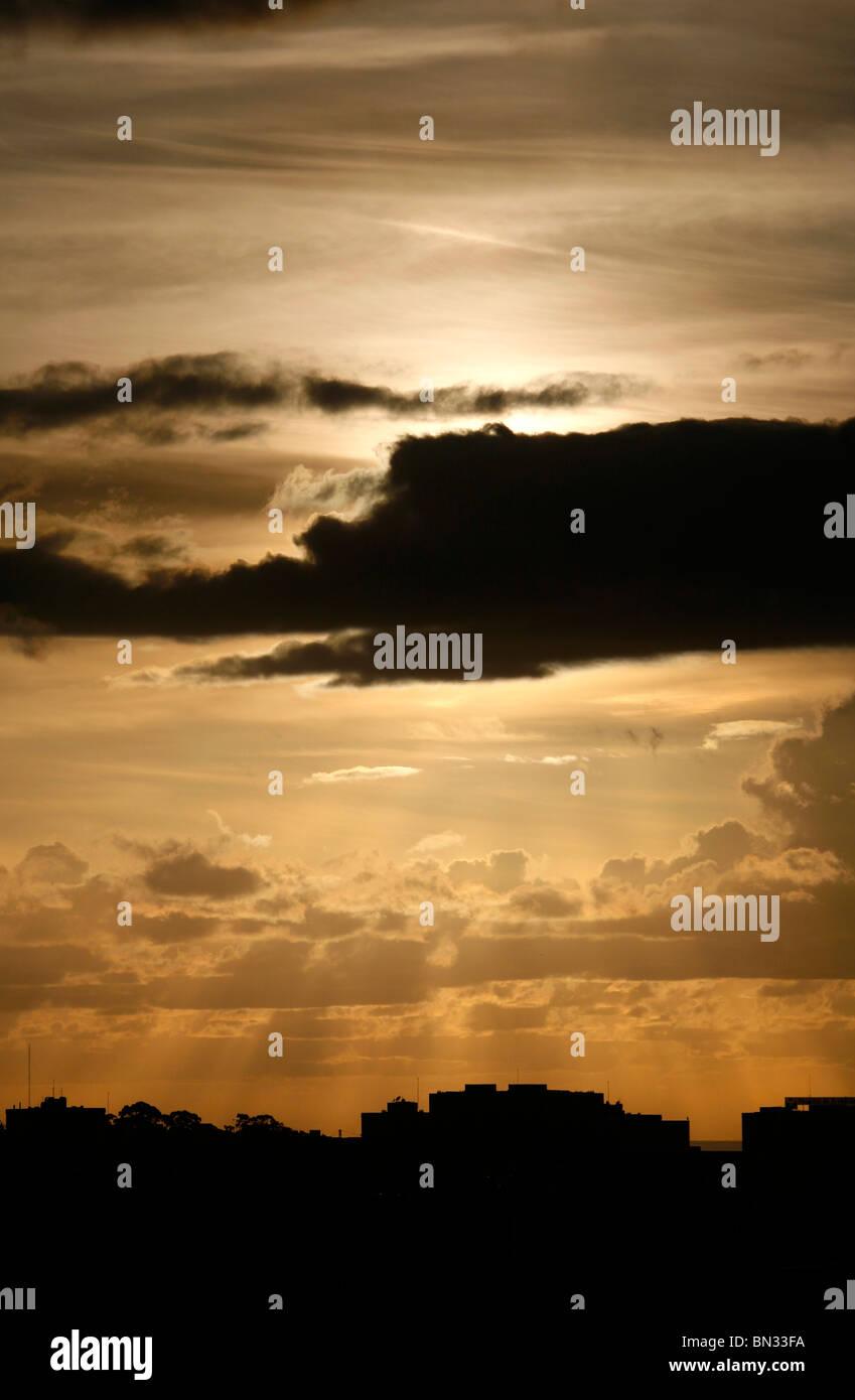 Sunset in Oporto Stock Photo