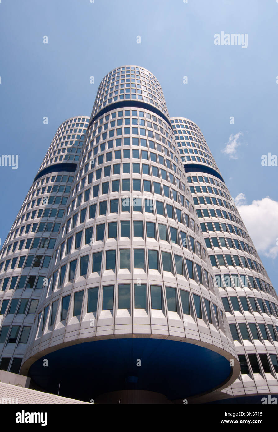 BMW's corporate headquarters in Munich, Germany - Stock Image
