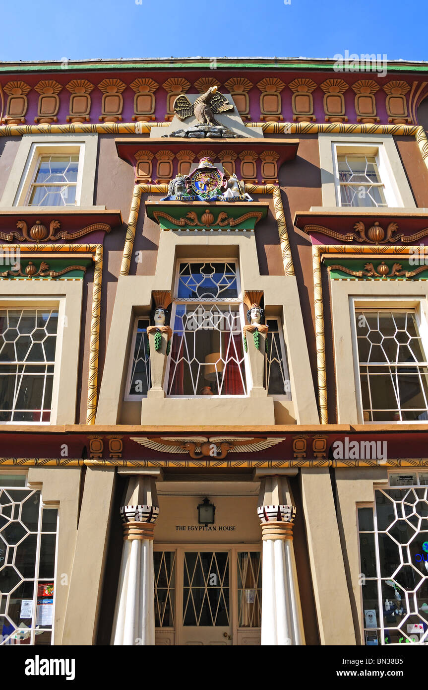 the egyptian house in penzance, cornwall, uk - Stock Image