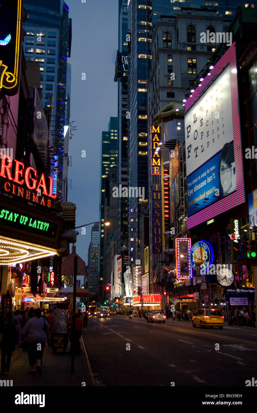 Times Square, 42nd Street - Stock Image