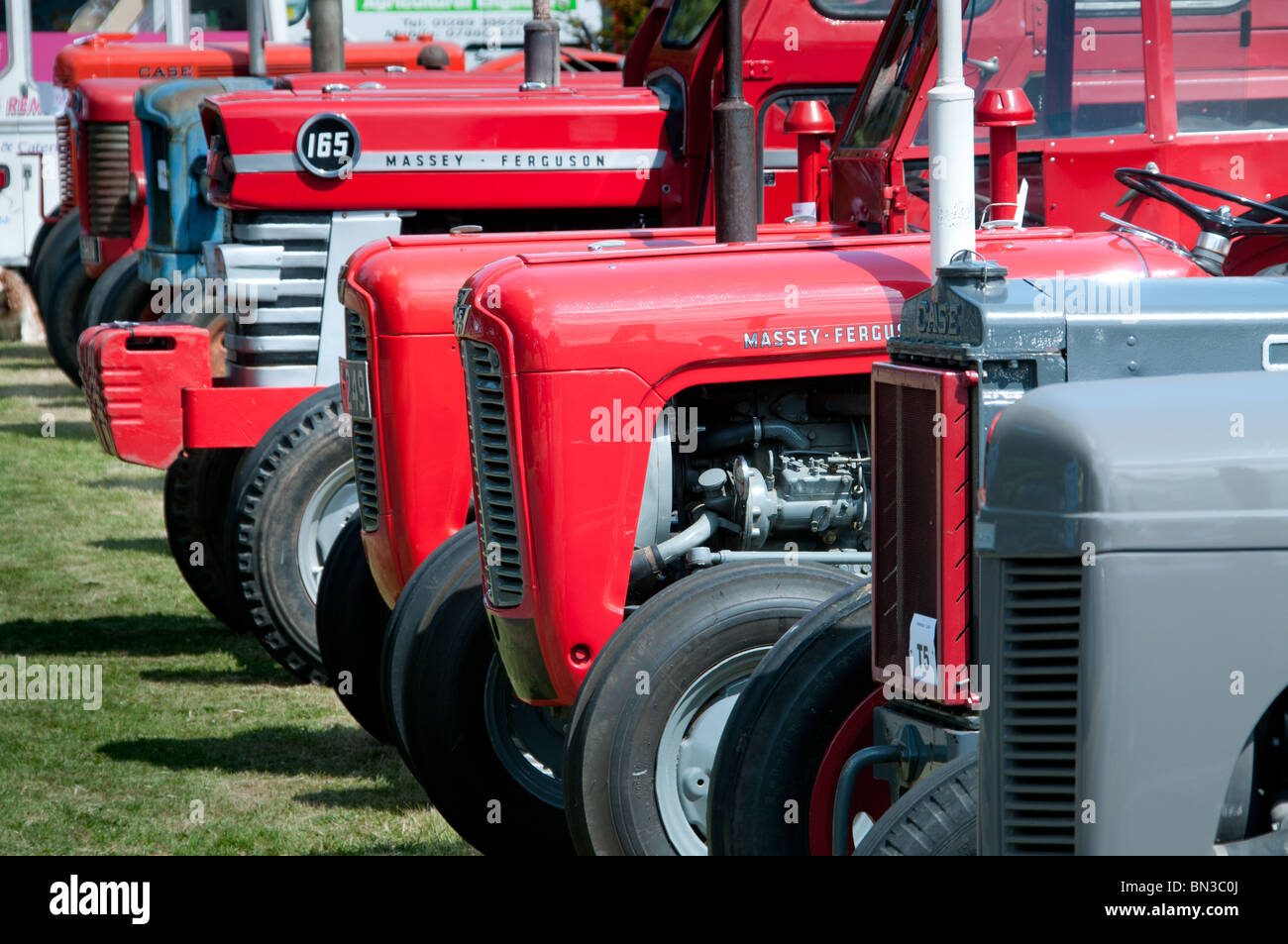 Vintage tractor rally at Paxton House - Stock Image