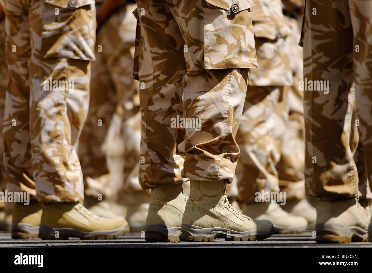 Feet on the ground - The Royal Logistic Corps on parade. - Stock Image