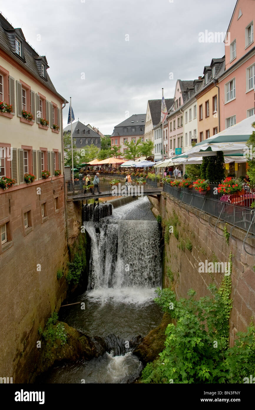 Waterfall, Saarburg, Rhineland-Palatinate, Germany - Stock Image