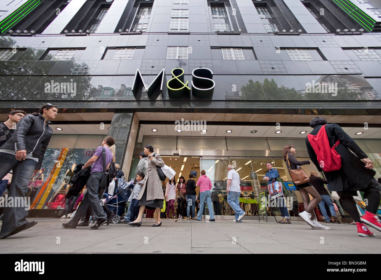 Marks and Spencer branch in London - Stock Image