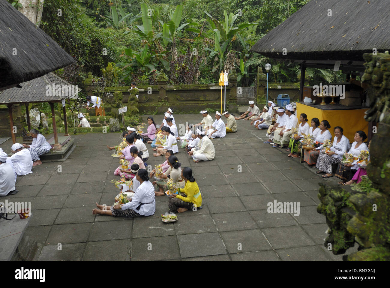 Ceremony, Pura Luhur Batukau, Bali, Indonesia, Asia Stock Photo