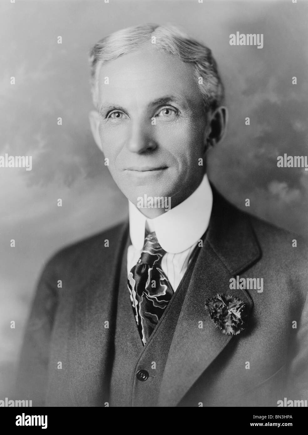 Portrait photo circa 1910s of American businessman Henry Ford (1863 - 1947) - founder of the Ford Motor Company. - Stock Image