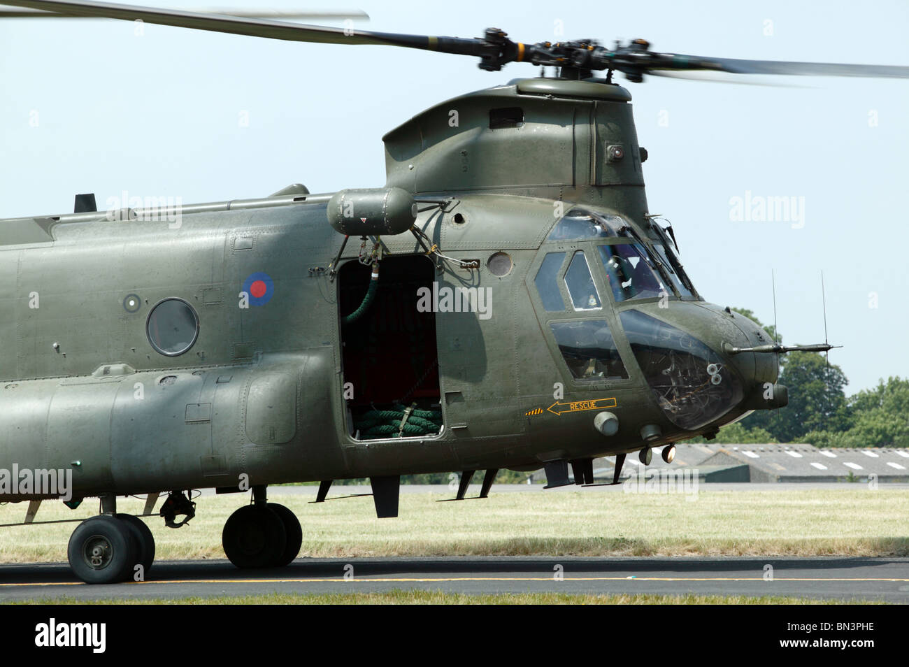 Close-up imagen of a RAF Chinook HC.2 - Stock Image