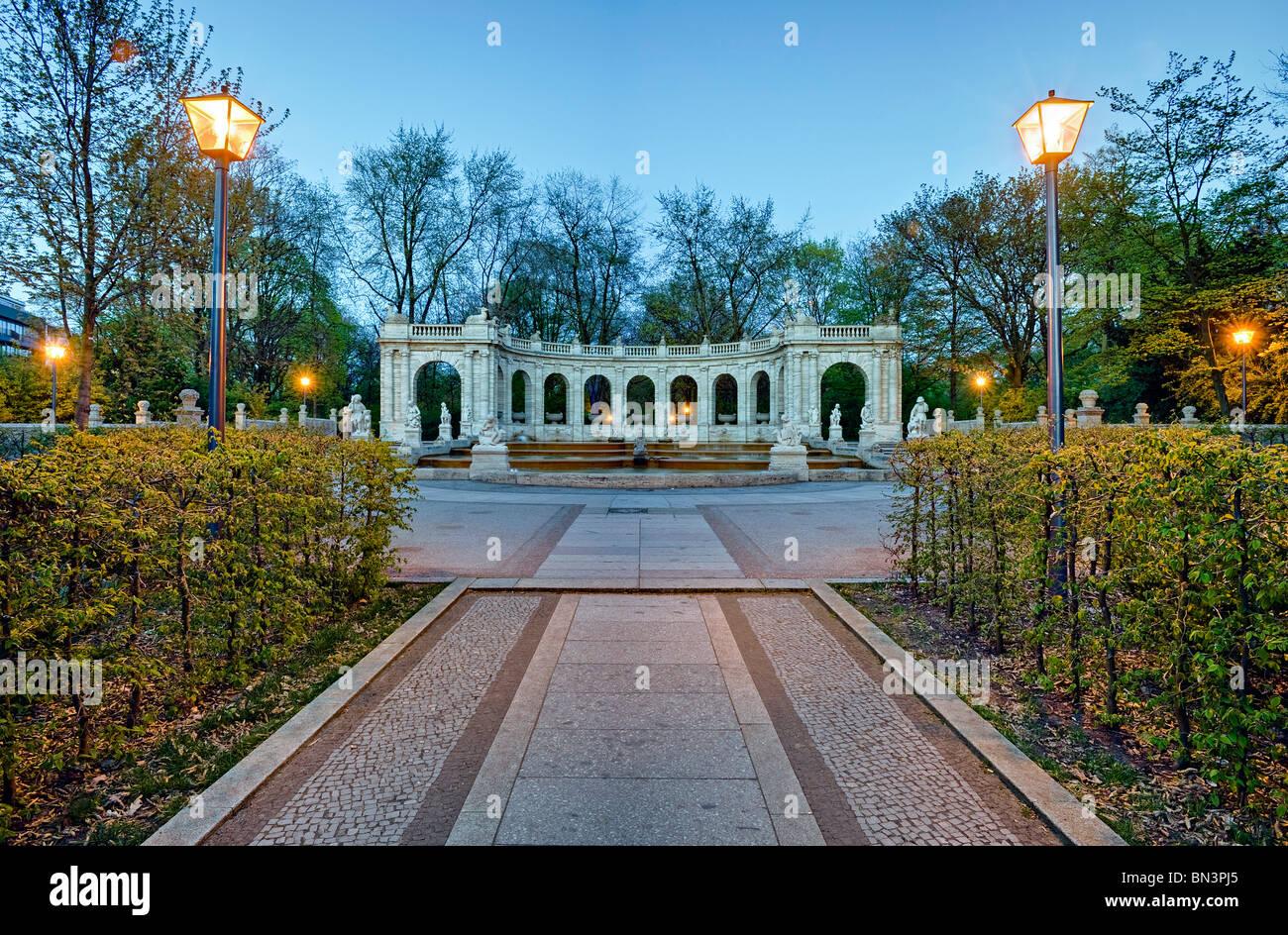 Fountain (Maerchenbrunnen) in the Volkspark, Friedrichshain, Berlin, Germany - Stock Image