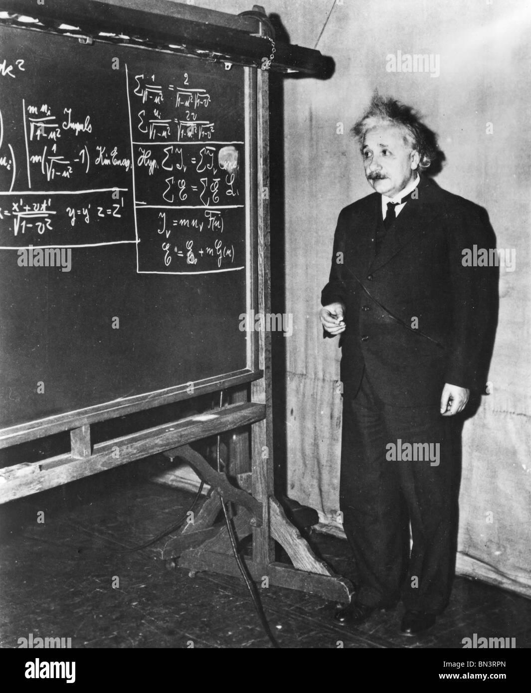 ALBERT EINSTEIN (1879-1955) German-Swiss mathematical physicist Stock Photo