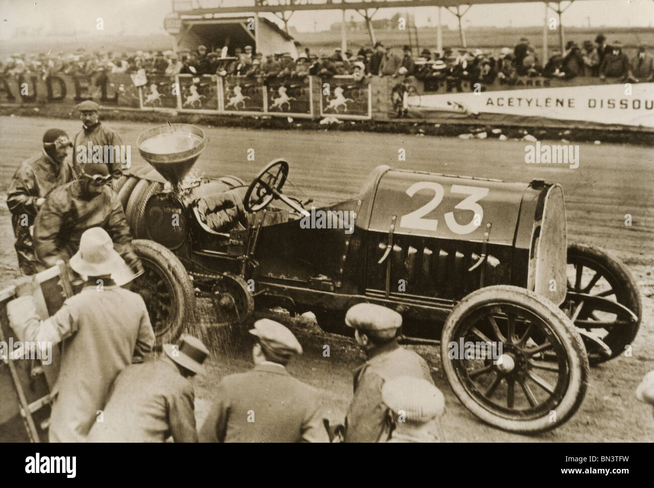 MOTOR RACING  about 1910  - unidentified race - Stock Image