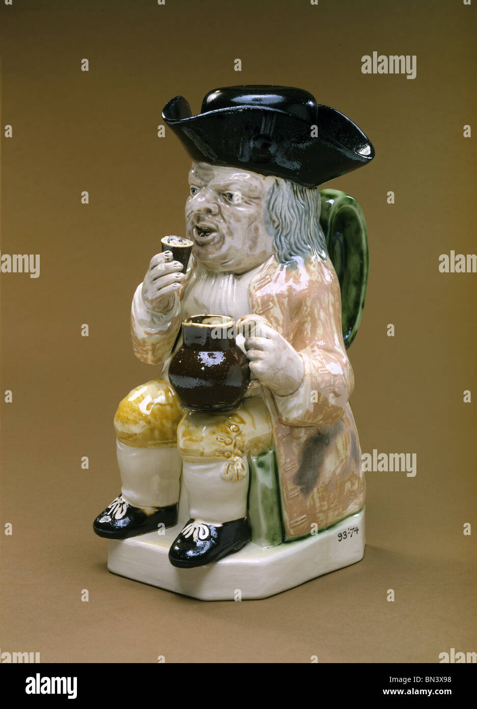 Toby jug. England, late 18th century - Stock Image