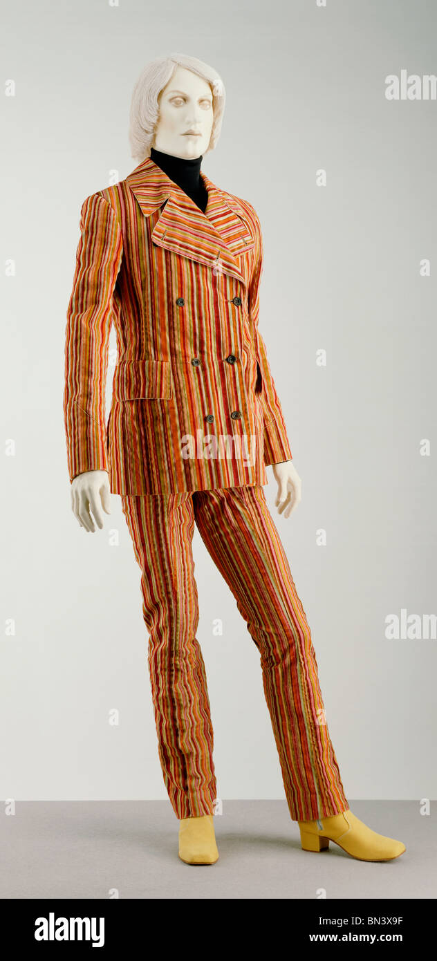 Double-breasted Suit, by Mr Fish. England, 1968 - Stock Image