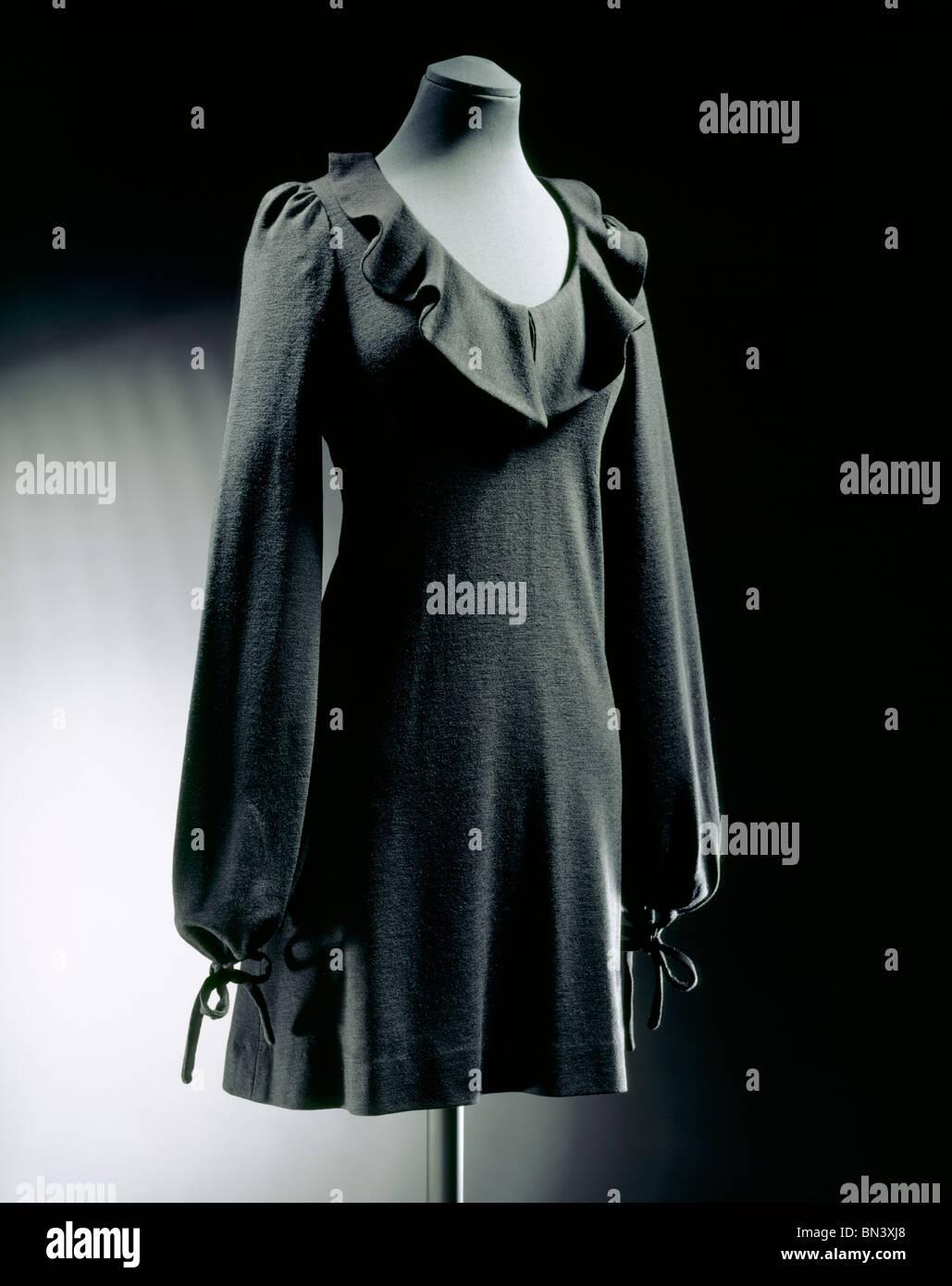 Mini Dress, by Biba. London, England, 1968. EDITORIAL USE ONLY - Stock Image