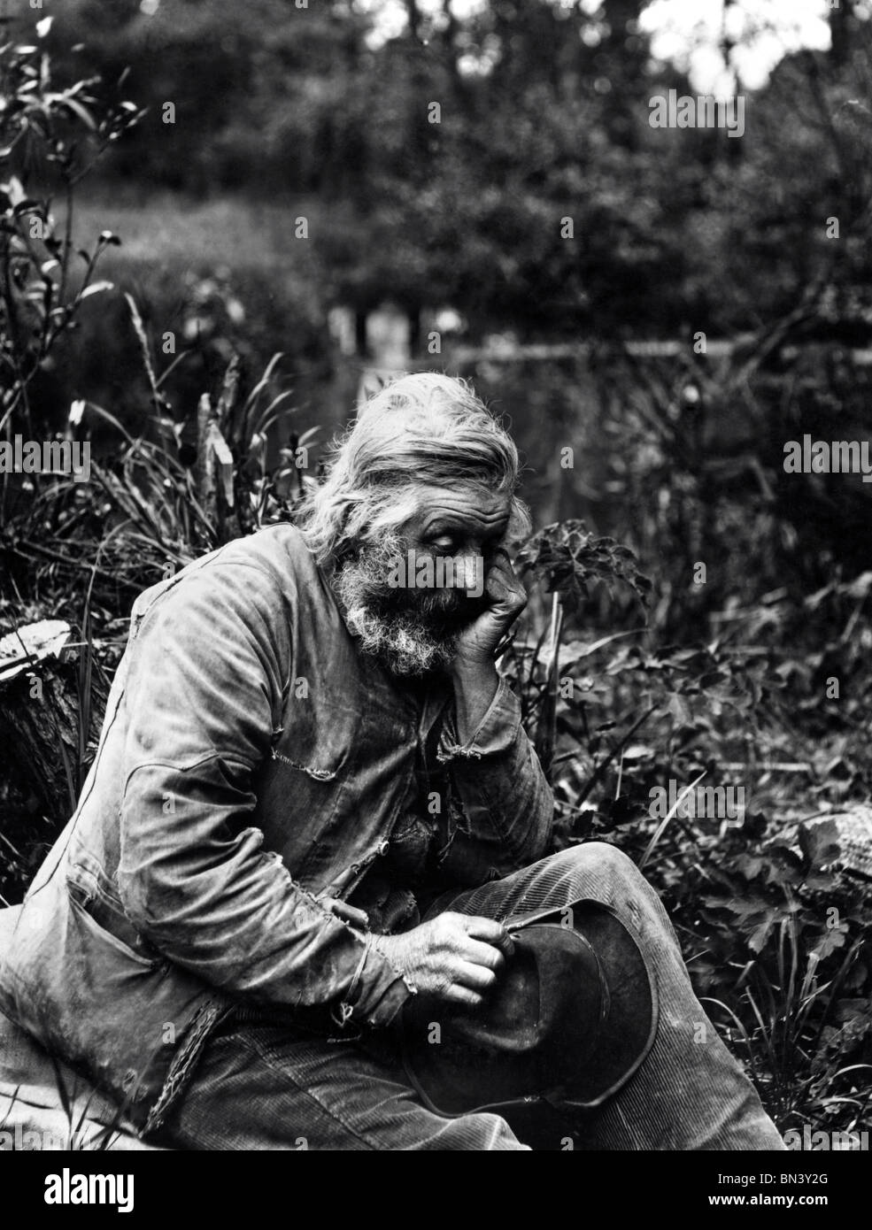 A Tramp, photo Paul Martin. England, 1896 - Stock Image